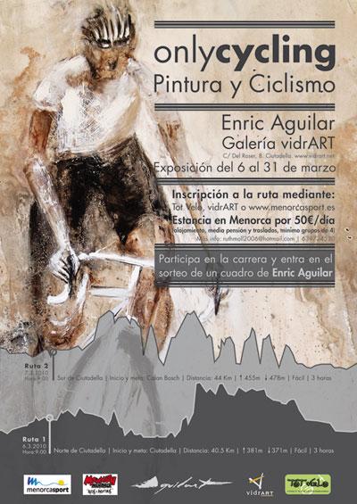 Only Cycling - Pintura y ciclismo Exposición de Enric Aguilar + Rutas en mounatin bike